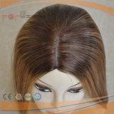 Schöne Omber blonde Farben-Spitze Silk SpitzenYaffa Hand gebundene Perücke