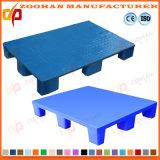 3 páletes plásticas higiênicas logísticas Stackable de uma superfície plana dos patins (Zhp11)