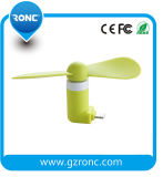 Зеленый материальный миниый вентилятор в штоке для мобильных телефонов
