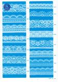 Merletto elastico per vestiti/indumento/pattini/sacchetto/caso 2109 (larghezza: 1cm - 11cm)