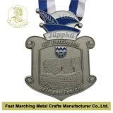 Античная серебряная медаль с талрепом
