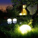 Lumière imperméable à l'eau rechargeable et de RVB DEL de bille de lumière d'événement