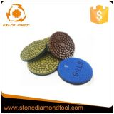 Plancher en pierre humide de diamant polissant l'outil abrasif