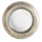 ホーム装飾のための小さく多目的な銀製の円形の組み立てられた樹脂の壁ミラー