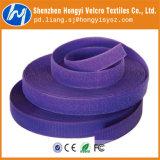 混合の紫色の耐久のきのこのホック及びループ・ケーブルのタイ