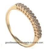 Neue Form 2015 einfaches AAA-Steinkreis-Ring-Schmucksachezusatzgerät für Frauen R10574