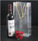 Chaud-Vente du sac en plastique de vin de PVC d'espace libre durable avec le cordon