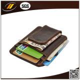 Владельца карточки карманн монетки горячего сбывания чисто кожаный