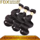 卸し売りしてはいけないもつれのバージンのブラジルの毛のよこ糸(FDX-YY-KBL)を