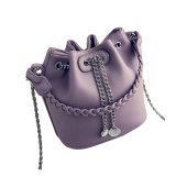 Braçadeira Frontal Original e Cadeia Cadeia Ladies PU Bucket Bag Wzx1157