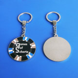 Customzied Round Keychain Games de Schertz Zinc Alloy Keychain