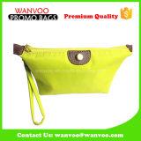 Портативный желтый полиэфир крепежной детали 410d & мешок PU косметический для Ladies