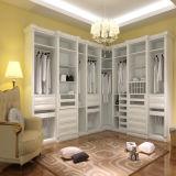 Wardrobe do MDF da melamina com porta da dobradiça