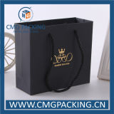 Matt Luxury Black Wedding Gift Bag avec Hot Foil Stamping (CMG-MAY-018)