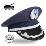 Chapeaux militaires personnalisés avec la courroie de menton argentée