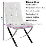 판매를 위한 B8011 하얀 가죽 식당 가구