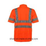 De hoge T-shirt Workwear van de Veiligheid van het Zicht Weerspiegelende