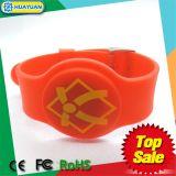 Les aperçus gratuits 13.56MHz ISO14443A MIFARE 1K classique imperméabilisent le bracelet d'IDENTIFICATION RF de silicones