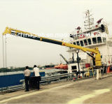 5-25 grúa marina del auge hidráulico portuario del nudillo de la tonelada con el certificado de la BV del ABS