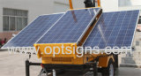 Green Energy Hydraulic Lifting Outdoor Solar Powered Mobile Light Tower