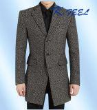 2016 классицистические куртки и пальто зимы людей Brown бленды шерстей