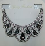 Fashion Jewelry Blue Waterdrop女性ガラス水晶カラーネックレス(JE0196)