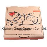 유럽 작풍 얇은 계기 물결 모양 Kraft 피자 상자 (PB13012)