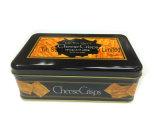 Rectángulo rectangular del estaño en alimento quebradizo de la serpiente del queso del embalaje