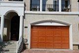 Puerta seccional Hf-166 del garage del grano de madera electrónico