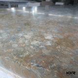 건축재료 인공적인 돌담 위원회 6mm 백색 단단한 표면 (170821)
