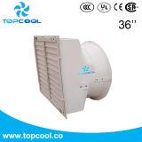 """azionamento diretto di ventilazione del granaio dei 36 """" della parete del cono maiali del ventilatore con l'otturatore"""