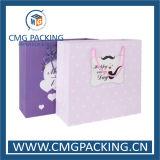Saco roxo impresso pessoal da embalagem do presente (DM-GPBB-218)
