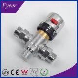 Válvula de mezcla termostática de cobre amarillo del control de la temperatura de Fyeer Dn15 Dn20