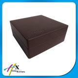 Accettare il contenitore di vigilanza di legno del cuoio del contenitore di orologio di ordine su ordinazione