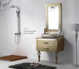 Governo rispecchiato stanza da bagno dorata dell'acciaio inossidabile del nastro (YB-917)