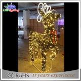 옥외 조경 크리스마스 핫 타입 LED 3D 순록 주제 빛