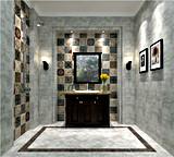 Azulejo de suelo rústico de azulejo de la pared de piedra del cemento del azulejo Sn6202