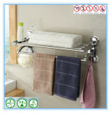 Doppeltes Layers Wall Mounted Shower Caddy Rack Bar für Towel