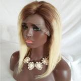 """16 """" Ombre Non-Remy Haar-Perücke-Spitze-Stirnbein-Haar des Haar-150% Hand gebundenes"""