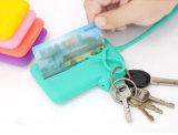 쇼핑을%s 의류 모양 실리콘 카드 부대 열쇠 고리