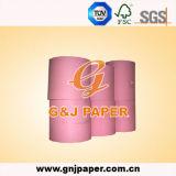 Papel cor-de-rosa de Woodfree com embalagem do rolo
