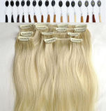 Layer Hair Extension 220gの7A Peruvian Afro Remy Hair Clip