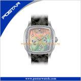 Quartz Solid Stainless Steel Case 3ATM impermeável IP Glod relógios de couro genuíno