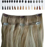 LaceのWeft Hair Extensionsの100%のインド人Remy Hair Clips