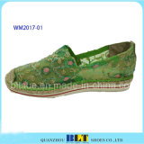 Ботинки пеньковой веревки женщин резиновый вскользь с шнурком