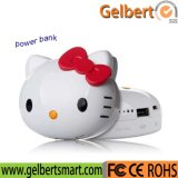 Cartoon Hello Kitty Portable LED Indicação Power Bank