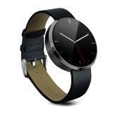 2015 новое прибытие Bluetooth кожаный Smartwatch Dm360 с поддержкой мобильного телефона монитора тарифа сердца Multi-Language