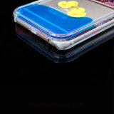 iPhone 5/6/6plusのための液体のきらめきの粉の流砂の黄色のアヒルの電話カバーか箱