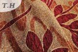 Tessuto rosso della mobilia del jacquard del Chenille del reticolo delle 2016 foglie di acero