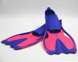 Alette di immersione con bombole, attrezzatura per l'immersione, immersione subacquea navigante usando una presa d'aria